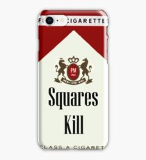 Squares Kill marlboro cigarette label iPhone Case/Skin