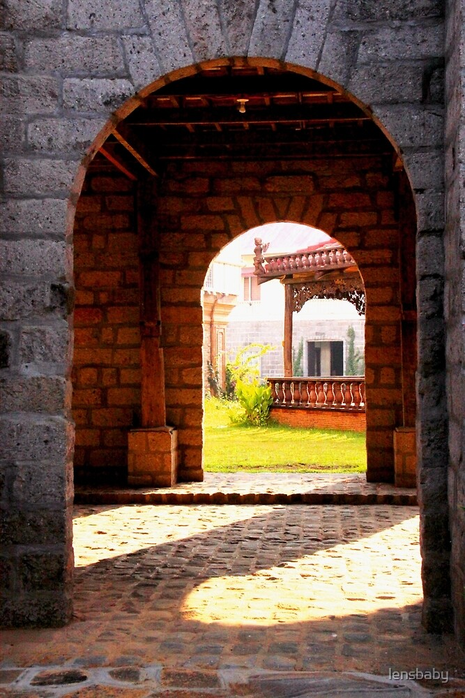view through the arches by lensbaby