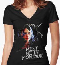 Meet Me In Montauk T-Shirt Women's Fitted V-Neck T-Shirt