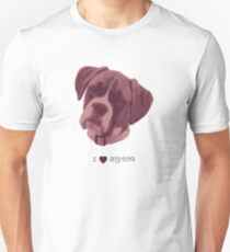 I love my dog - Boxer (Pink) Unisex T-Shirt