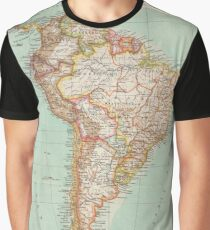 South America Antique Maps Graphic T-Shirt