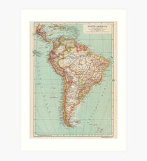 South America Antique Maps Art Print