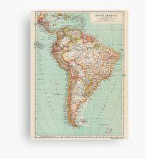 South America Antique Maps Canvas Print