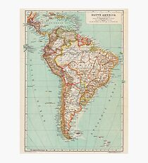 South America Antique Maps Photographic Print