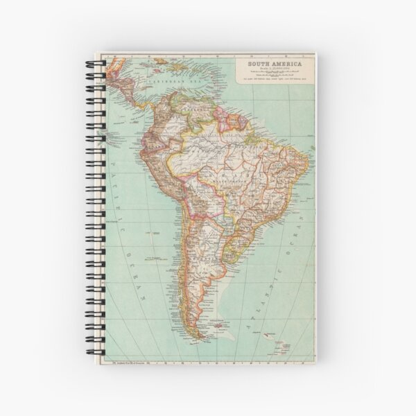 South America Antique Maps Spiral Notebook