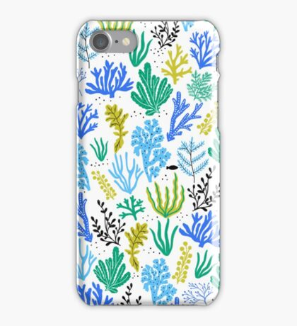 Marine life, seaweed illustration iPhone Case/Skin