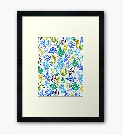 Marine life, seaweed illustration Framed Print