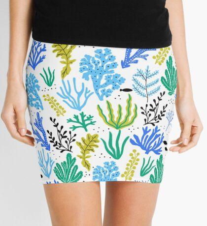 Marine life, seaweed illustration Mini Skirt