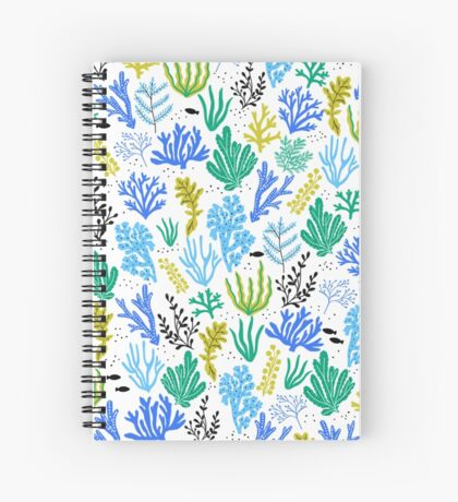 Marine life, seaweed illustration Spiral Notebook