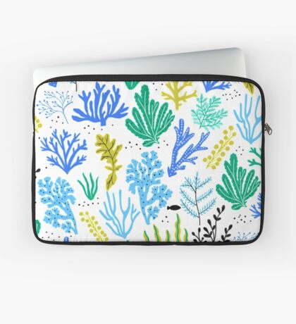 Marine life, seaweed illustration Housse de laptop