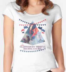 Glastonbury Festival 2017 Women's Fitted Scoop T-Shirt