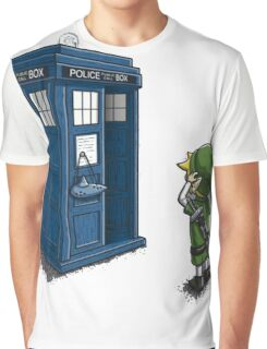The Legend of Zelda & Doctor Who - Link (Tardis) Graphic T-Shirt