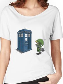 The Legend of Zelda & Doctor Who - Link (Tardis) Women's Relaxed Fit T-Shirt