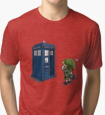 The Legend of Zelda & Doctor Who - Link (Tardis) Tri-blend T-Shirt