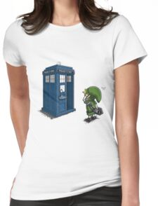 The Legend of Zelda & Doctor Who - Link (Tardis) Womens Fitted T-Shirt