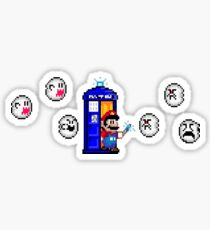 Mario & Doctor Who - Mario (Tardis) Sticker
