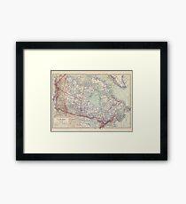 Canada Antique Maps Framed Print