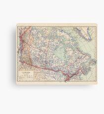 Canada Antique Maps Canvas Print
