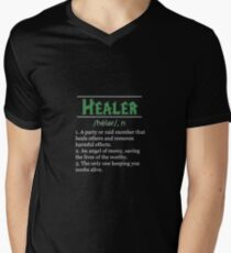 Definition of Healer Men's V-Neck T-Shirt