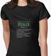 Definition of Healer Womens Fitted T-Shirt