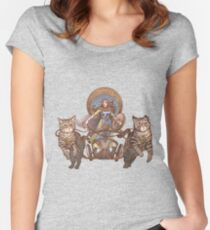Freya Driving Her Cat Chariot Women's Fitted Scoop T-Shirt