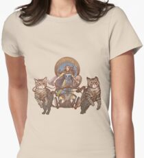 Freya Driving Her Cat Chariot Women's Fitted T-Shirt