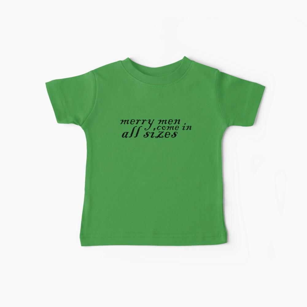 Fröhliche Männer, kommen in allen Größen Baby T-Shirt