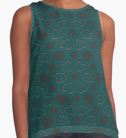 Silver Hearts by Julie Everhart Sleeveless Top