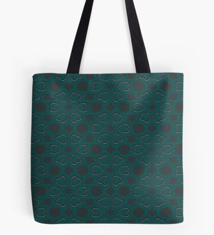 Silver Hearts by Julie Everhart Tote Bag