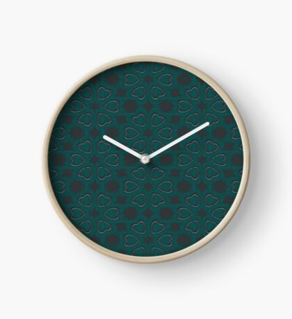 Silver Hearts by Julie Everhart Clock