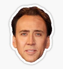 Nick Cage  sticker Sticker