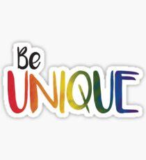 Be Unique Sticker
