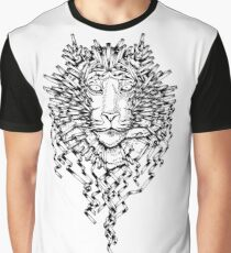 Origami Lines Tiger Black and White Graphic T-Shirt