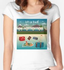 Time to Travel by Train Women's Fitted Scoop T-Shirt