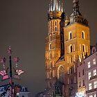 St. Mary's Basilica on Christmas Eve - Krakow, Poland by Robert Kelch, M.D.