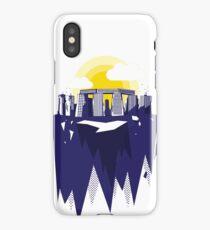 Modern surreal stonehenge skyscraper graphic art iPhone Case/Skin