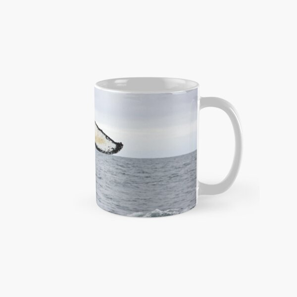 Waving Whale's Tail Classic Mug