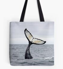 Waving Whale's Tail Tote Bag