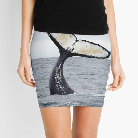 Waving Whale's Tail Mini Skirt