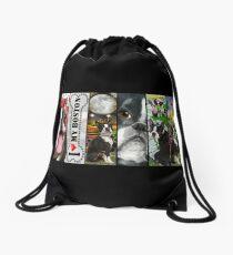 Never Enough Boston Terrier Dogs Drawstring Bag