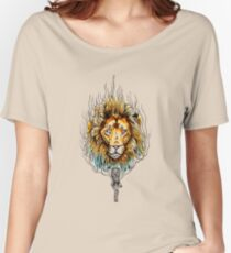 Origami Lines Tiger Wild Flame Women's Relaxed Fit T-Shirt