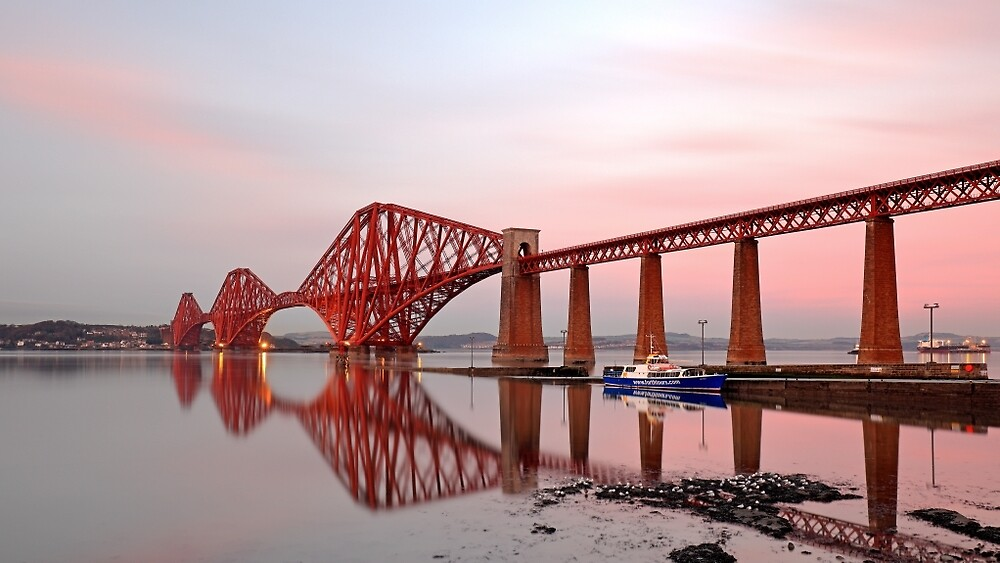 Forth Railway Bridge Sunset by Grant Glendinning