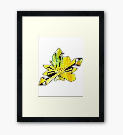 Crystal Light -Citrine Healing  Poster Framed Print