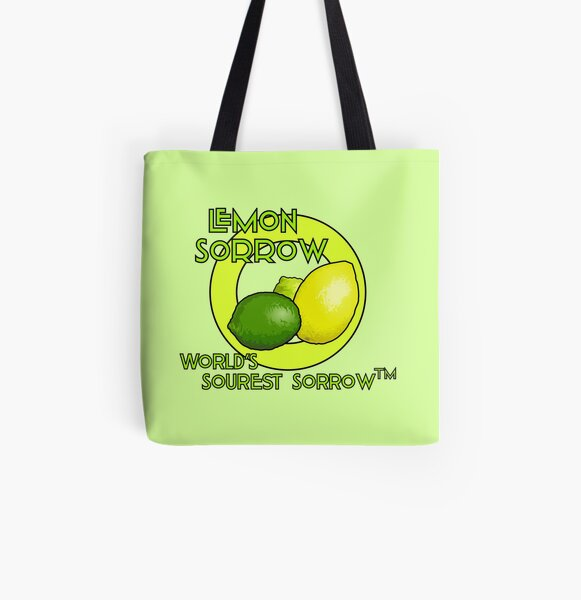Lemon Sorrow Bolsa estampada de tela
