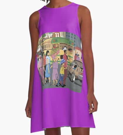 Back of the Bus A-Line Dress