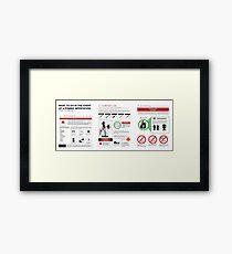 Survival Guide Framed Print