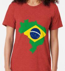 Camiseta de tejido mixto Brasil