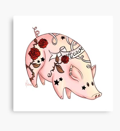 Tattoo Pig Canvas Print