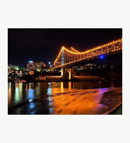 Low tide under the Storey Bridge Photographic Print