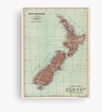 New Zealand Antique Maps Canvas Print